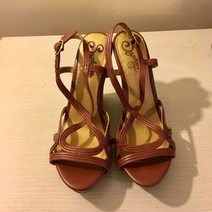 Seychelles Stacked Wedge Sandals